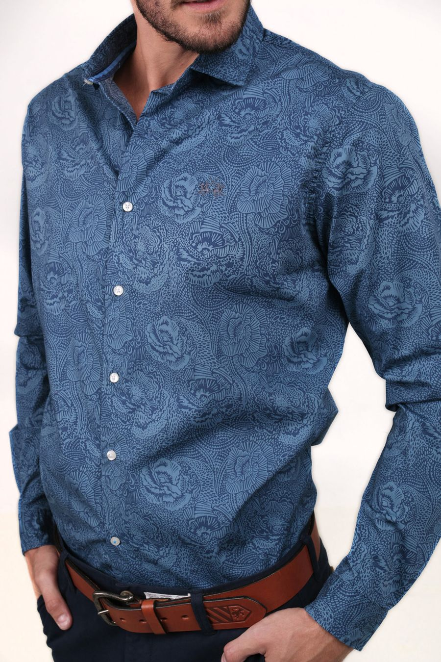 Camisa-Blue-Tag-Baham-Flor-Estampada