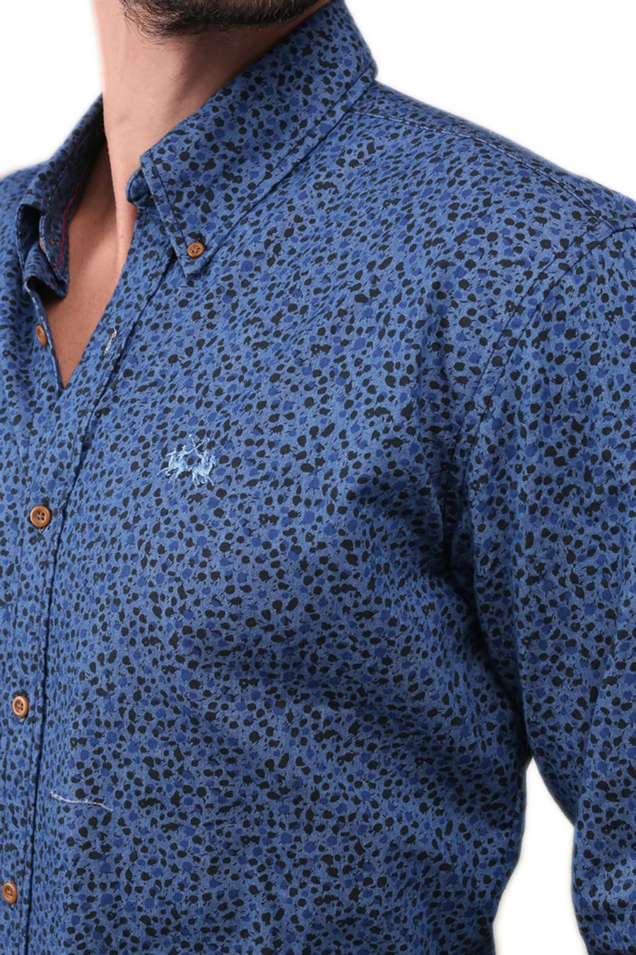 Camisa-Denim-Microprint