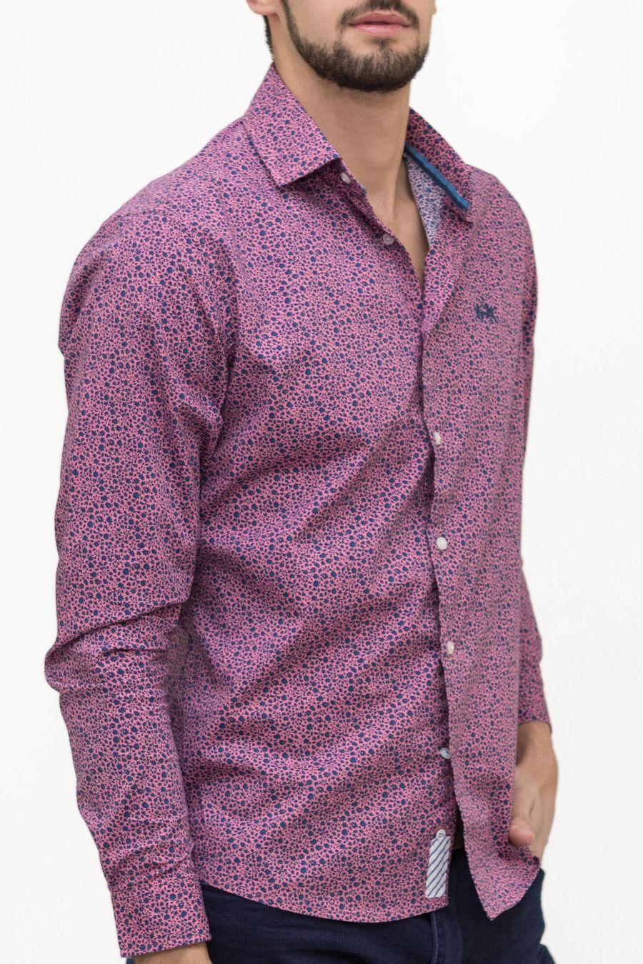 Camisa-Blue-Tag-Bakari-Flor-Estampada
