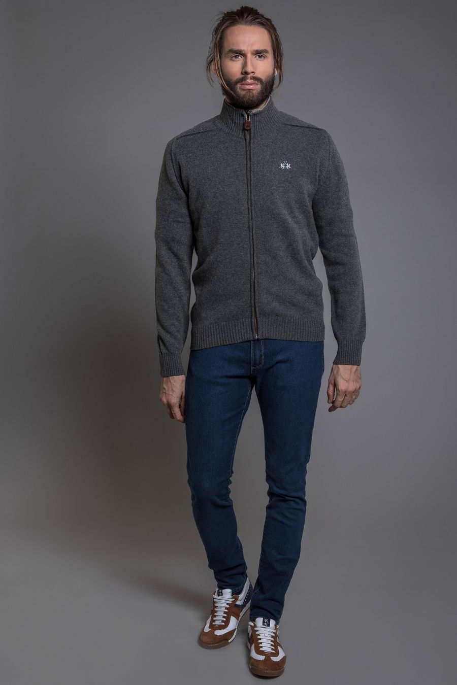 SWEATER-FULLZIP-RAY-DOBLE-CUELLO