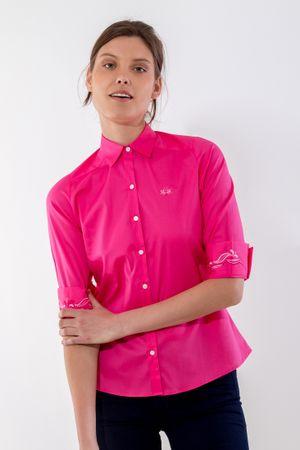 hermosa en color Venta de descuento 2019 seleccione para el más nuevo MUJER - TOPS - Camisas fucsia – La Martina Mobile