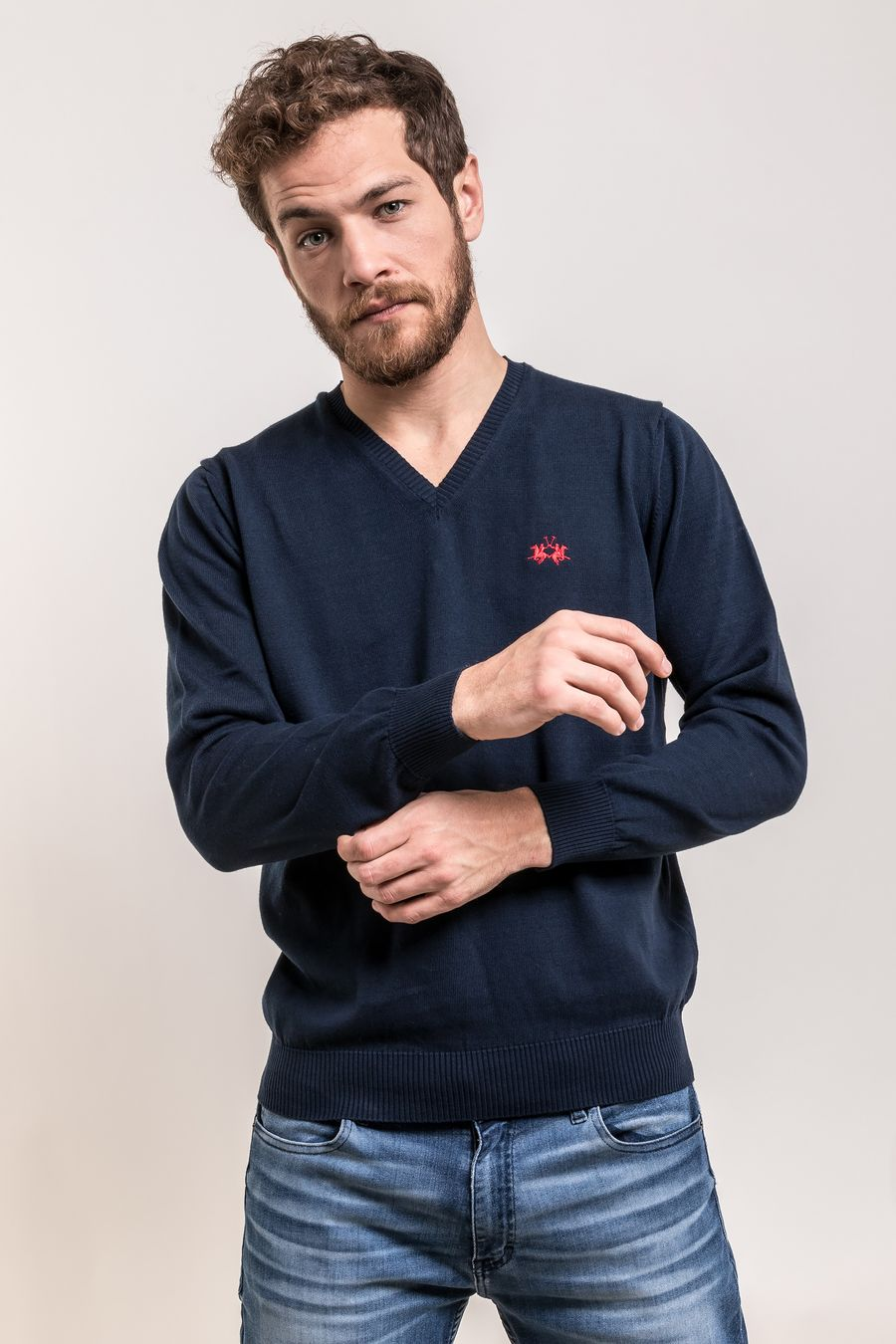 SWEATER-VNECK-SALOMON-NAVY
